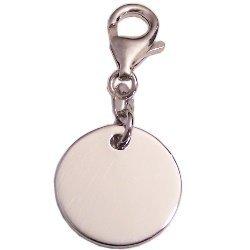 jetzt kaufen Kaufen Sie Authentic Preis Charm, Gravuranhänger fürs Bettelarmband in 925/- Silber, rund, Durchmesser  ohne Anhängeröse ca: 17 mm, beide Seiten zur Gravur geeignet